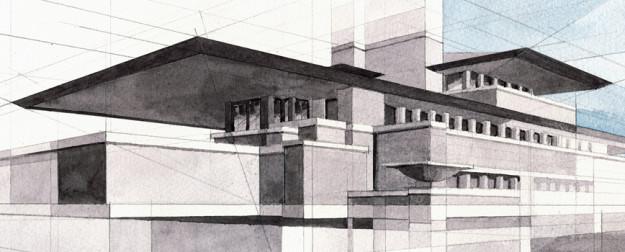 Fabio Barilari _ Frank Lloyd Wright - Robie House